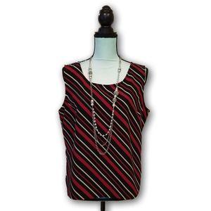 Studio I Diagonal Striped Dress Tank Top Size 16P